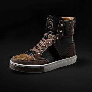 Brett Johnson Black High Top Sneakers 11 45